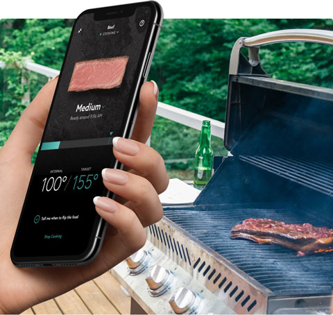 Image of a digital grill thermometer